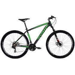 Mountain Bike South Bike Legend Pro - Aro 29 - Freio a Disco Mecânico - Câmbio Shimano - 21 Marchas - PRETO/VERDE