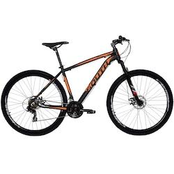 Mountain Bike South Bike Legend Pro - Aro 29 - Freio a Disco Mecânico - Câmbio Shimano - 21 Marchas - PRETO/LARANJA