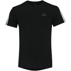 Camiseta adidas Run 3S Tee Masculina PRETO/BRANCO