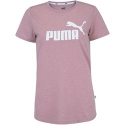 Camiseta Puma Elevated Essentials Logo Heather - Feminina - Rose