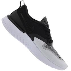 Tênis Nike Odyssey React 2 Flyknit - Feminino - PRETO/CINZA CLARO