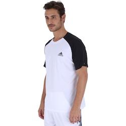 Camiseta adidas Club TD Masculina BRANCO/PRETO