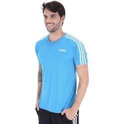 Camiseta adidas D2M 3S 19 Masculina AZUL CLARO