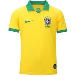 Camisa da Seleção Brasileira I 2019 Nike - Infantil - Amarelo/Verde