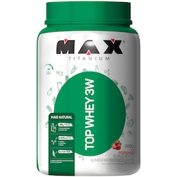 Top Whey 3W + Natural Max Titanium - Morango - 900g