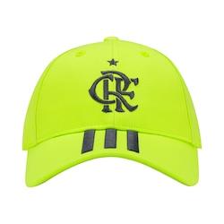 Boné Aba Curva do Flamengo 3S 2019 adidas Strapback Adulto Amarelo Fluor