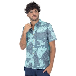Camisa Hurley Sig Zane Ululoa - Masculina - AZUL