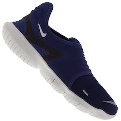 Tênis Nike Free RN Flyknit 3.0 - Masculino - AZUL ESC/PRETO