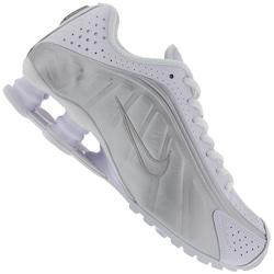 Tênis Nike Shox R4 - Feminino - Branco/Cinza Claro