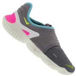 Tênis Nike Free RN Flyknit 3.0 - Feminino - CINZA CLA/MARROM