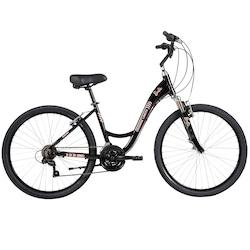 Bicicleta Caloi Barbie - Aro 26 - Freio V-Brake - Câmbio Shimano - 21 Marchas - Feminina - PRETO