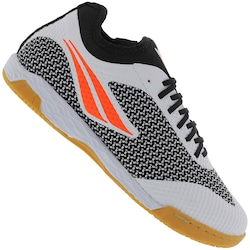 Chuteira Futsal Penalty Max 500 F12 Locker IX IC - Adulto - PRETO/BRANCO