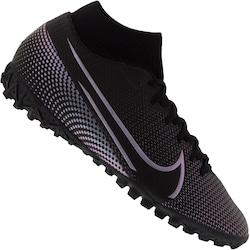 Chuteira Society Nike Mercurial Superfly 7 Academy TF - Adulto - PRETO