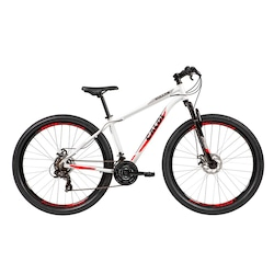 Mountain Bike Caloi Vulcan - Aro 29 - Freio a Disco Mecânico - Câmbio Traseiro Shimano - 21 Marchas - BRANCO