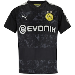 Camisa Borussia Dortmund II 19/20 Puma - Infantil - PRETO