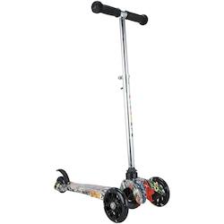 Patinete 3 Rodas Spin Roller Ajustável com Luzes de LED - Infantil - BRANCO/VERMELHO