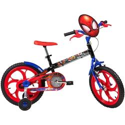 Bicicleta Caloi Homem-Aranha - Aro 16 - Infantil - PRETO/VERMELHO