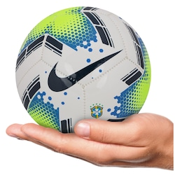 Minibola de Futebol de Campo da Seleção Brasileira 2020 Nike - Branco/Verde Cla