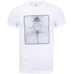 Camiseta adidas Game On Lock - Masculina - BRANCO