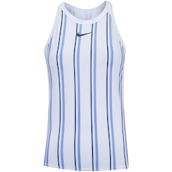 Camiseta Regata Nike Dry Court - Feminina - BRANCO/AZUL