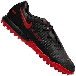 Chuteira Society Nike Phantom GT Academy TF - Adulto - PRETO/VERMELHO