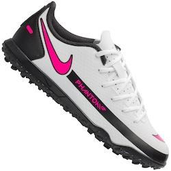 Chuteira Society Nike Phantom GT Club TF - Infantil - BRANCO/ROSA