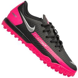 Chuteira Society Nike Phantom GT Academy TF - Infantil - PRETO/ROSA