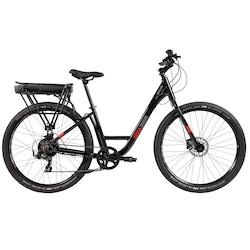Bicicleta Elétrica Caloi E-Vibe Urbam - Aro 27,5 - Motor 350 W - Freios Hidráulico Shimano - PRETO