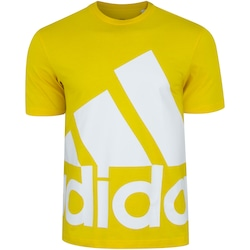 Camiseta adidas Fav Big Logo - Masculina - AMARELO/BRANCO