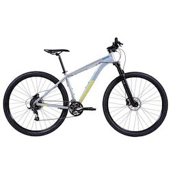 Mountain Bike Caloi Atacama Flex - Aro 29 - Freio a Disco Hidráulico - Câmbio Microshift - PRATA
