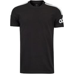 Camiseta adidas M Crew - Masculina - PRETO/BRANCO