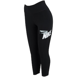 Calça Legging Nike One Tight Fit Crop HBR GRX - Feminina - PRETO/BRANCO