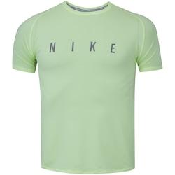 Camiseta Nike Run Division Miler Top SS - Feminina - VERDE CLARO