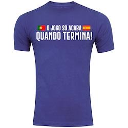 69c43a05f3 Camiseta Adams - Masculina - Azul - Portugal X Espanha II - AZUL - Adams -