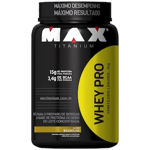 Whey Pro 1Kg - Baunilha - Max Titanium