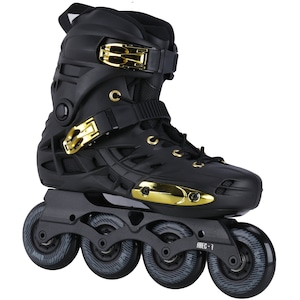 Patins Oxer Darkness Gold - In Line - Freestyle - ABEC 7 - Base de Alumínio - Adulto