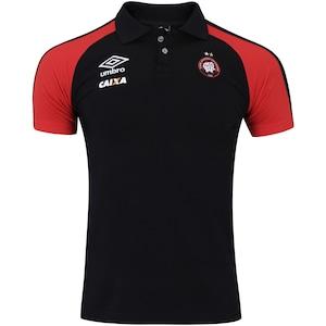 Camisa Polo do Atlético-PR Viagem 2017 Umbro - Masculina