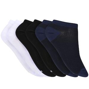 Kit de Meias Invisível Oxer Fiber com 6 Pares - Masculino
