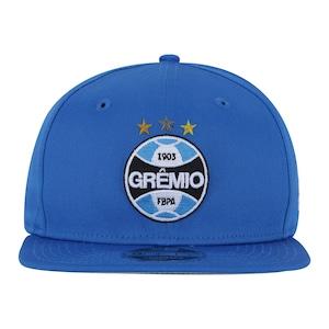 Boné Aba Reta do Grêmio New Era 950 OF SN Primary - Snapback - Adulto bc569169751