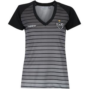 Camisa do Atlético-MG Aquecimento 2017 Topper - Feminina