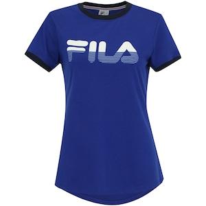 Camiseta Fila Letter Stripes - Feminina