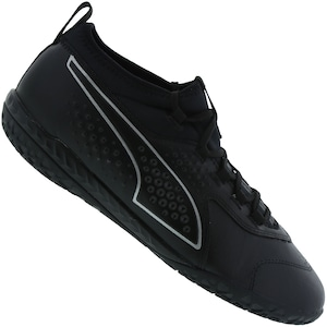Chuteira Futsal Puma One 3 IC Leather BDP - Adulto