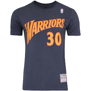 Camiseta Mitchell & Ness Golden State Warriors Name and Number - Masculina