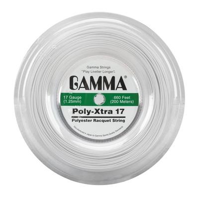 Corda para Raquete de Tênis Gamma Poly Xtra 17 1.25 - 200m