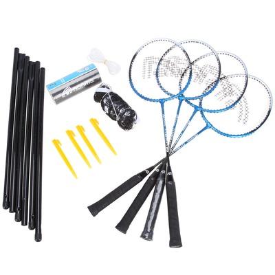 Kit de Badminton Adams Titanium 80 - 4 Raquetes, 3 Petecas, 1 Rede e 1 Raqueteira