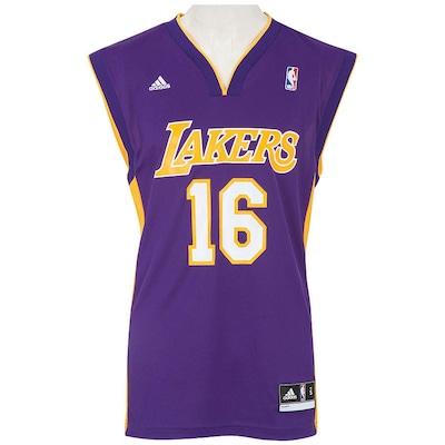 Camiseta Regata adidas NBA Lakers Gasol Road
