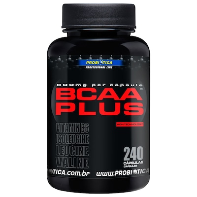 BCAA Plus 800 mg - 240 Cápsulas - Probiótica