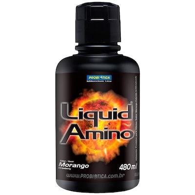 Amino Liquid - 480 ml - Sabor Morango - Probiótica