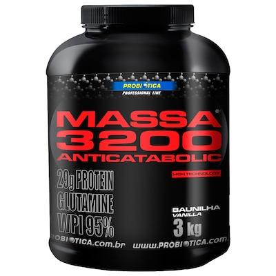 Massa 3200 Anticatabolic - 3 Kg - Sabor Baunilha - Probiótica