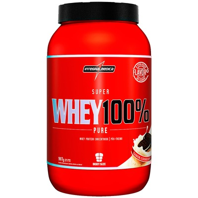 Whey Protein Integralmédica Super Whey 100% Pure - Cookies - 907g